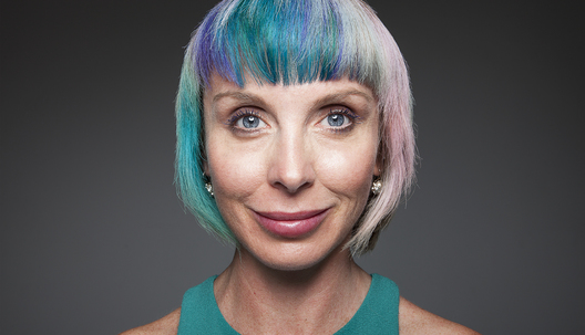 """I like to change my look. I feel like I change from the outside in. I'm currently rainbow galaxy colored. I change it about three times a year so my husband feels like he has multiple wives. I love seeing vibrant women in their '80s with pink and purple hair. Why grow old like your grandmother?"""