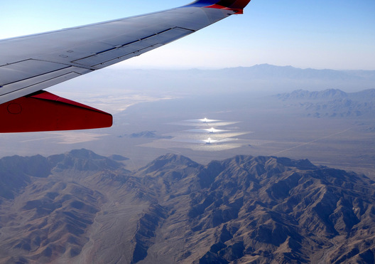 over Mojave Desert, California