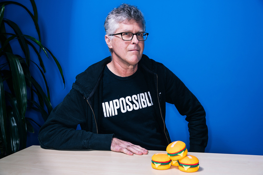 Pat Brown, chief executive officer and founder at Impossible Foods, poses for a portrait at the company headquarters in Redwood City, Calif. on Thursday, June 20, 2019.