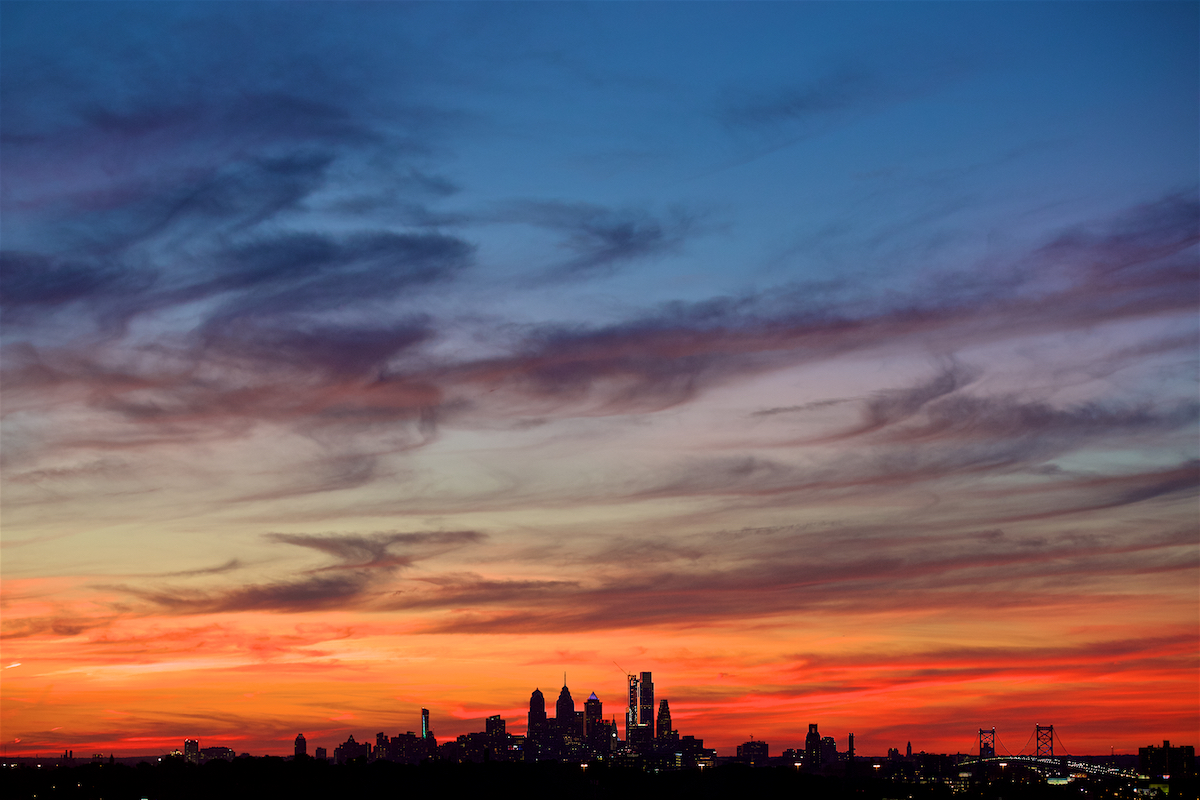 Philadelphia Skyline September 22, 2017  DerekBrad.com