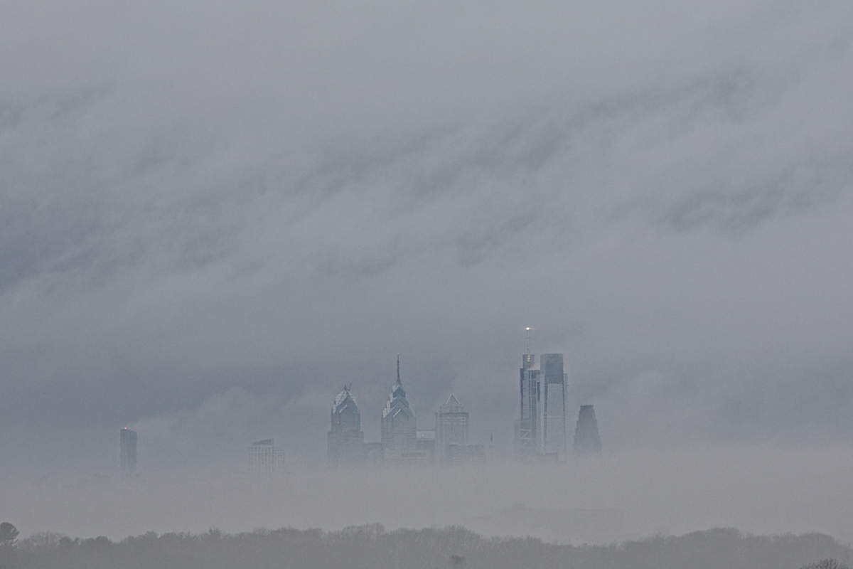 Philadelphia Skyline January 20, 2019  DerekBrad.com