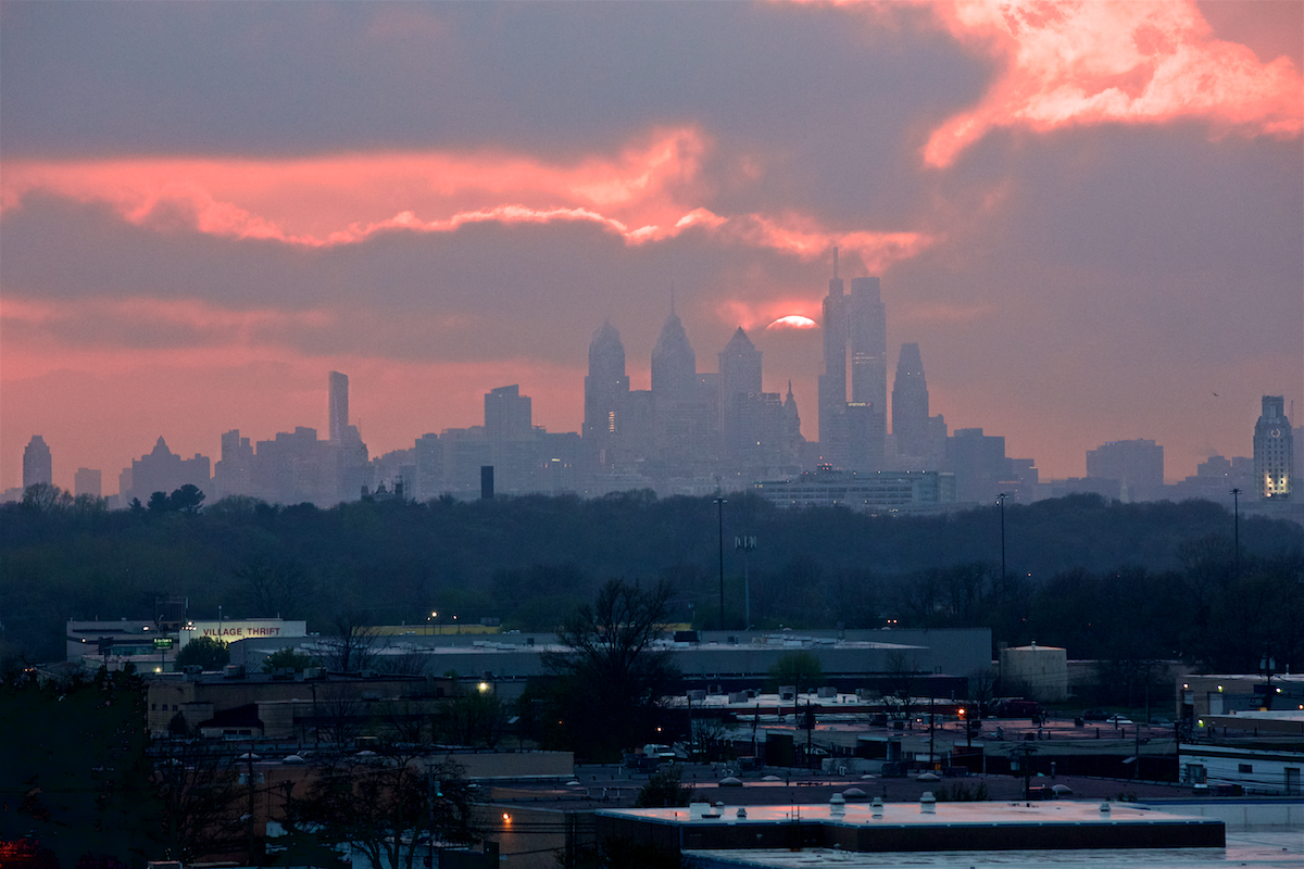 Philly Skyline  April 2018  DerekBrad.com