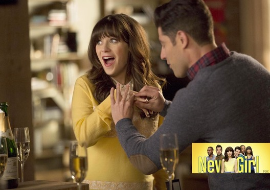"NEW GIRL:  L-R:  Zooey Deschanel and Max Greenfield in the ""Big Mama P"" season five premiere episode of NEW GIRL airing Tuesday, Jan. 5 (8:00-8:30 PM ET/PT) on FOX.  2015 Fox Broadcasting Co.  Cr:  John P. Fleenor/FOX"