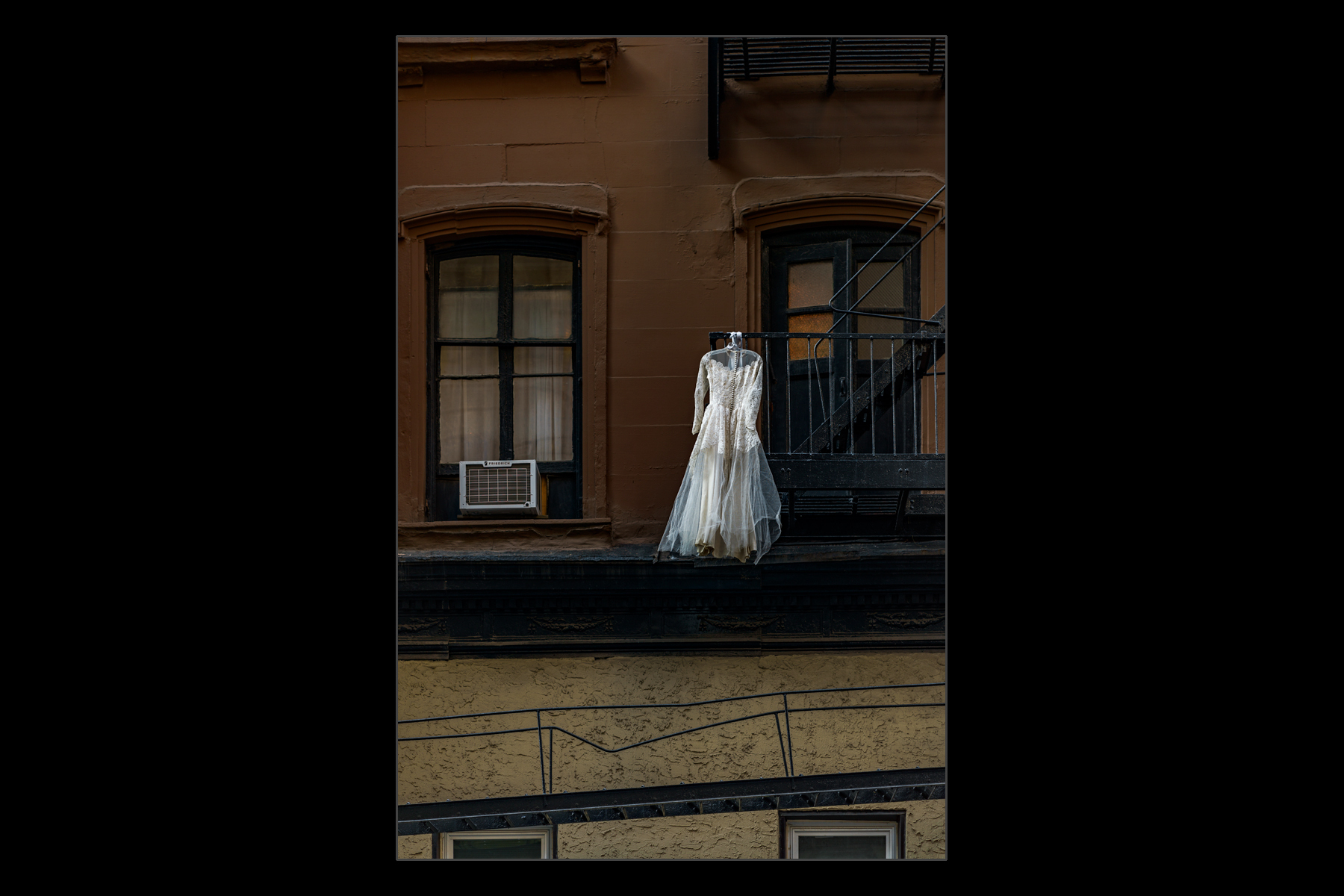 hanging dress, midtown Manhattan