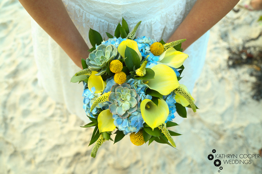 Calla lily flower bouquet on St. John, USVI wedding elopement photos