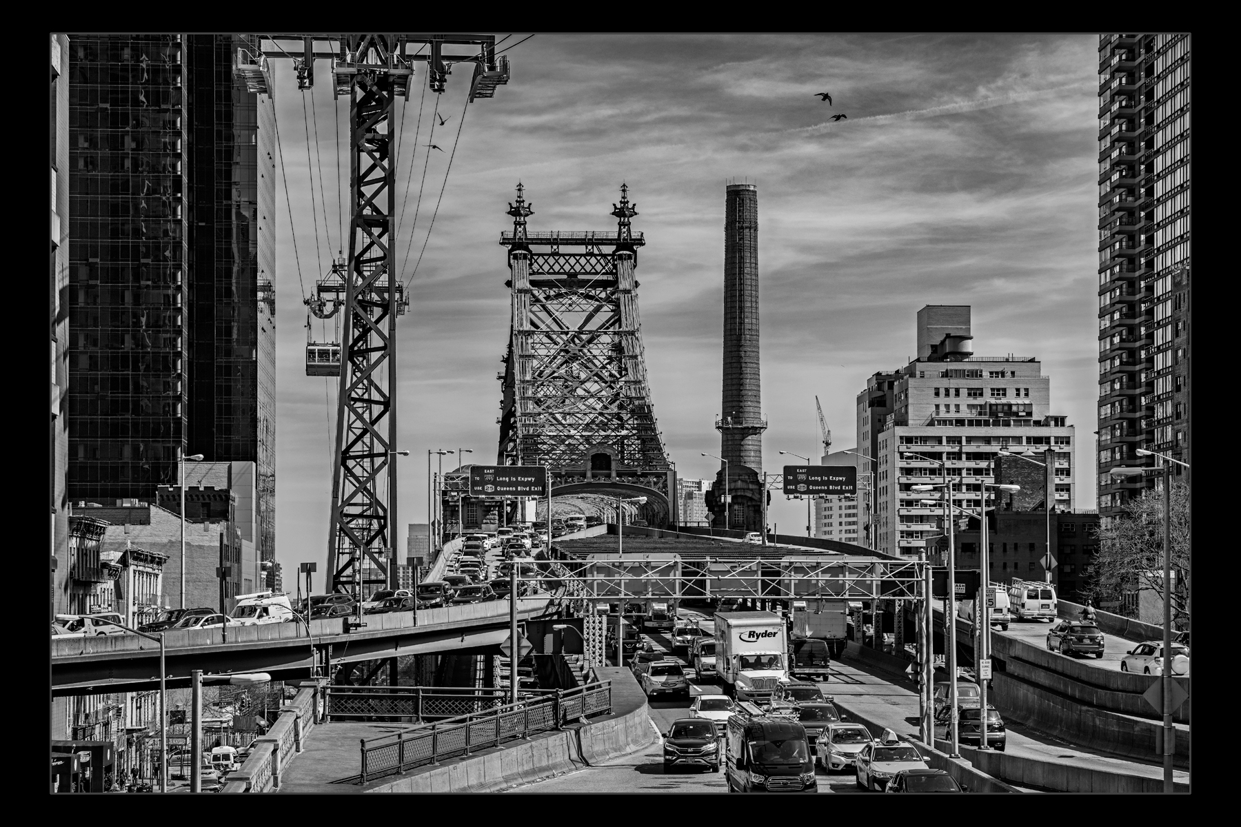 Queensboro Bridge and tram.