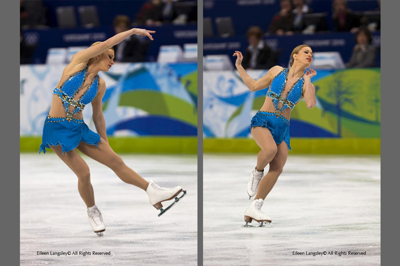 Joannie Rochette (Canada) performing her free programme at the 2010 Vancouver Winter Olympic Games