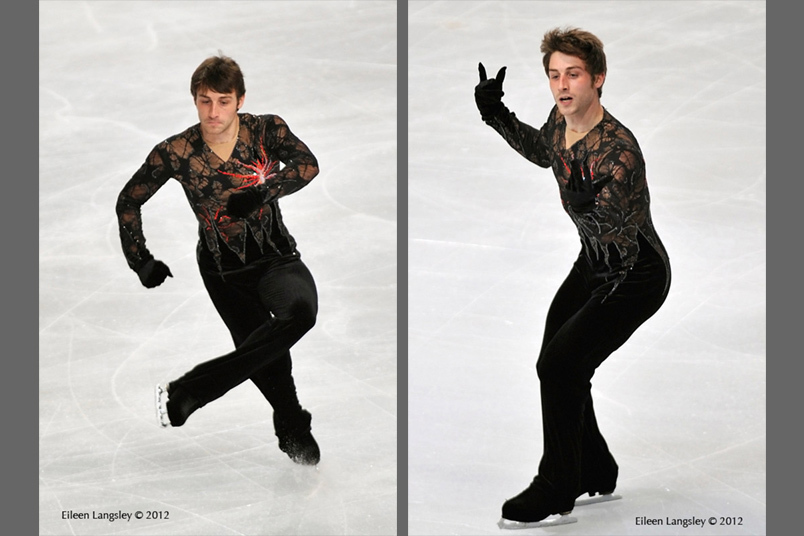 Brian Joubert (France) competing in the short and long programmes at the 2012 ISU Grand Prix Trophy Eric Bompard at the Palais Omnisports Bercy