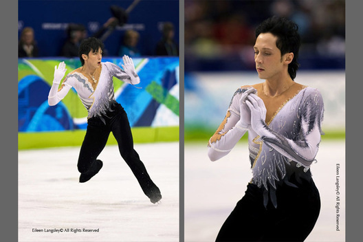 Johnny Weir (USA) in action during his free programme at the 2010 Vancouver Winter Olympic Games.