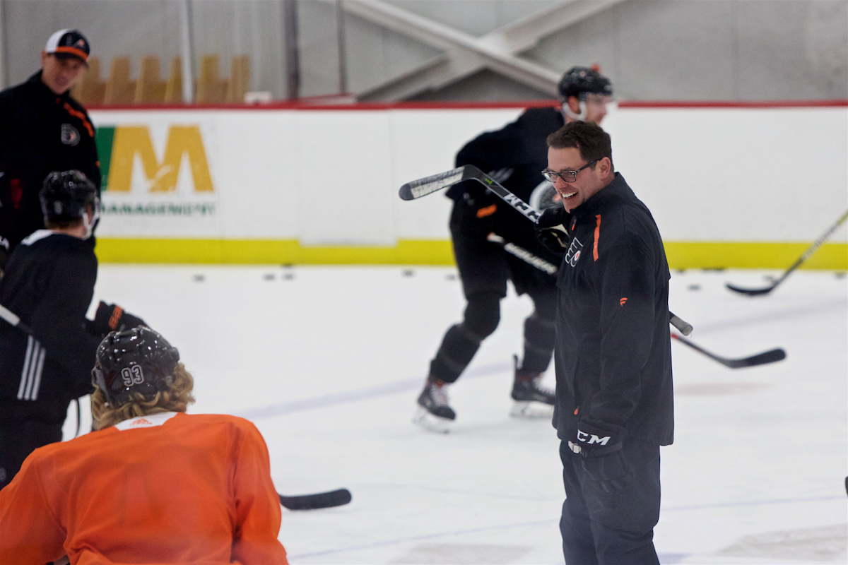 Philadelphia Flyers Practice  Skate Zone Voorhees, NJ February 8, 2019  DerekBrad.com