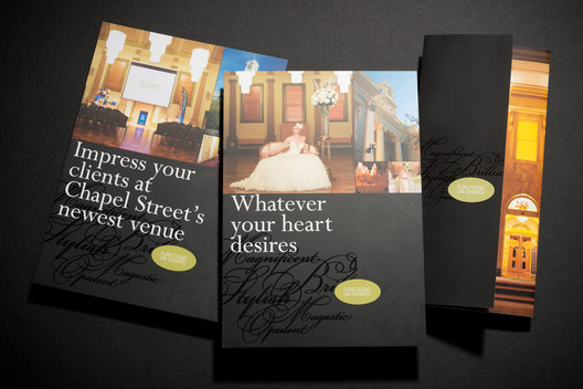 A series of brochures to promote the Functions on Chapel centre