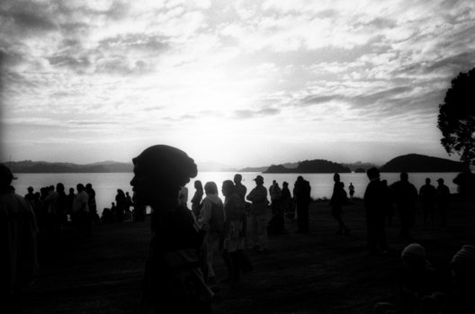 ©Tamara Voninski. Maori people gather in Waitangi for a dawn service on  Waitangi Day (New Zealand's National Day) in the Bay of Islands in New Zealand.   The Treaty of Waitangi was signed in 1840 between the Maori and the British who agreed to live together peacefully. In 2005, the New Zealand government passed the controversial Seabed and Foreshore legislation to prevent Maori from claiming exclusive ownership of New Zealand2019s resource rich coastline and seabed. The Maori traditionally see themselves as caretakers of the land and coastline.  The Maori population is approximately 530,000 of four million New Zealanders.