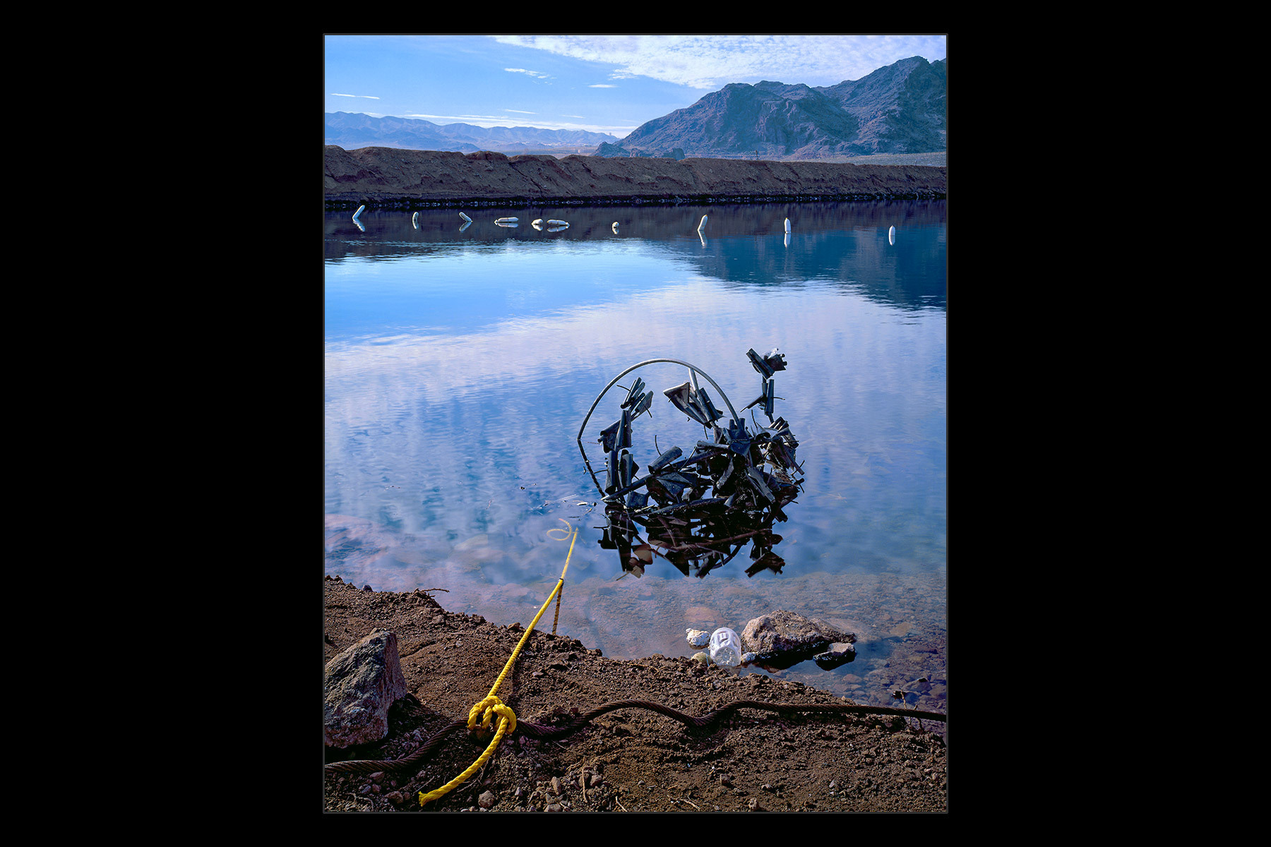 anchored debris, Lake Mead