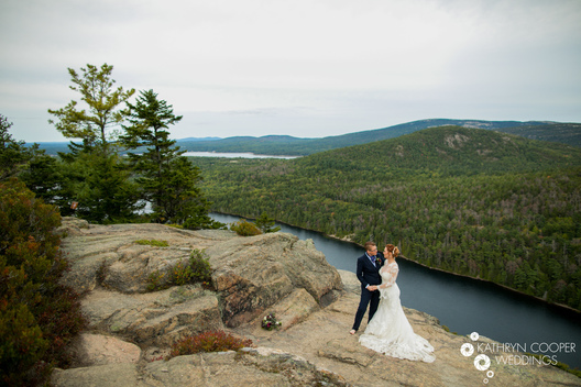 Gorgeous wedding locations in Acadia National Park for mountaintop wedding