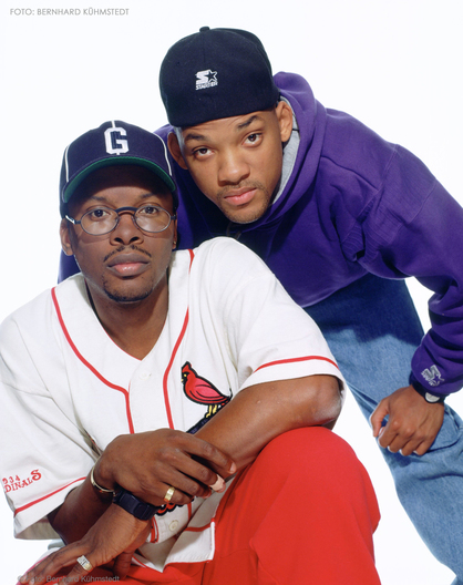 Portrait of The Fresh Prince (Will Smith) & D.J. Jazzy Jeff photographed in 1991.