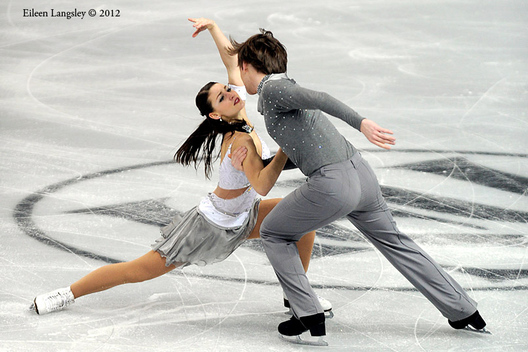 Tanja Kolbe and Stefano Caruso (Germany) competing the Dance event at the 2012 European Figure Skating Championships at the Motorpoint Arena in Sheffield UK January 23rd to 29th.