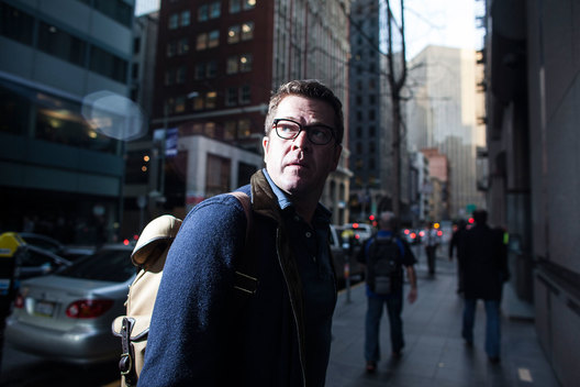 Karl-Theodor zu Guttenberg in downtown San Francisco, Februaury 25, 2015