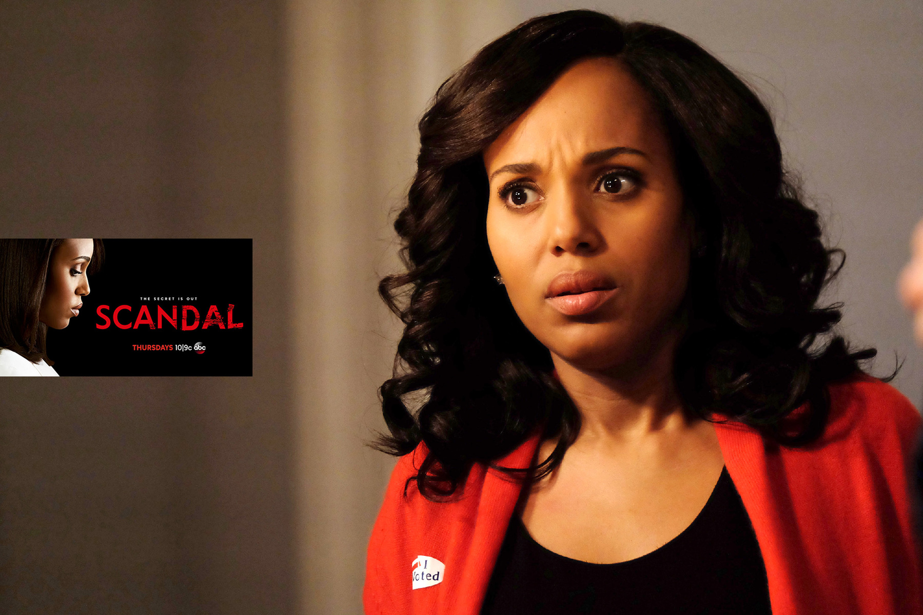 "SCANDAL - ""A Stomach for Blood"" - The events leading up to election night are retold from Abby's perspective, revealing a formidable thirst for power and the explosive secret she's been keeping, on ""Scandal,"" airing THURSDAY, MARCH 30 (9:01-10:00 p.m. EDT), on The ABC Television Network. (ABC/John Fleenor)