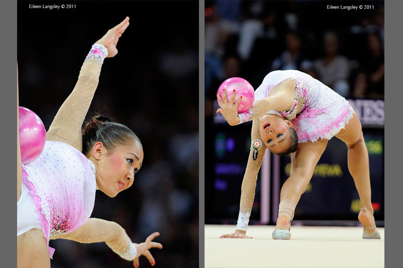 Aliya Garayeva (Azerbaijan) competing with Ball at the World Rhythmic Gymnastics Championships in Montpellier.