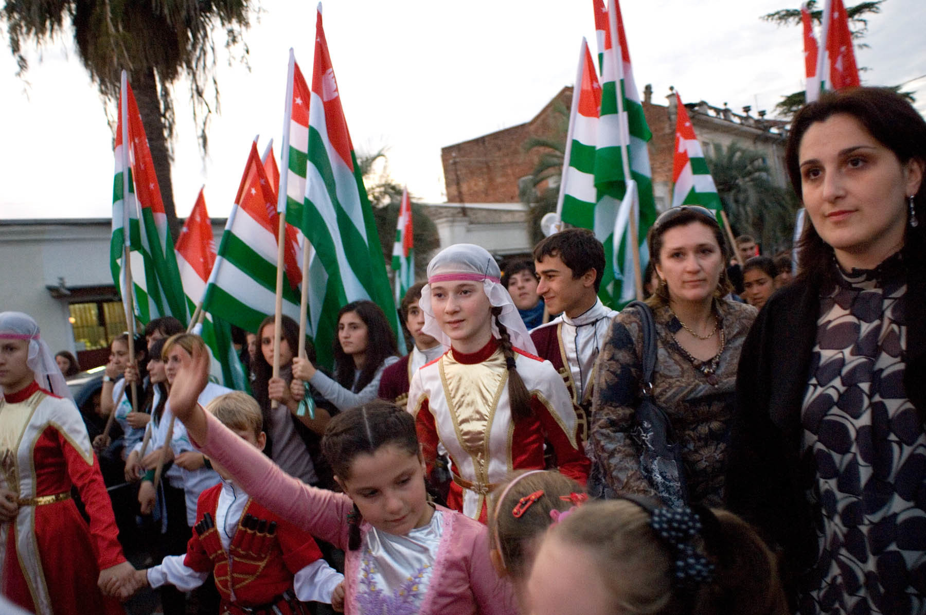 Abkhazian youth participate in celebration and dance honoring the independence of their nation.