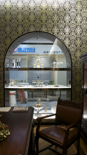 Display windows design of ELBE Europe Furniture Showroom and Commercial Retail Boutique Shop Interior Design by Singapore-based AND lab in Beijing.