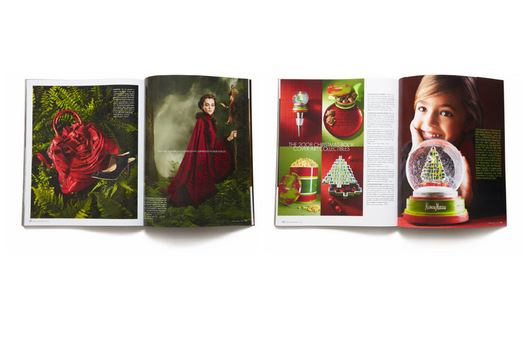 Created design direction and key sections for the world renowned NM Christmas Book featuring the infamous fantasy gifts.
