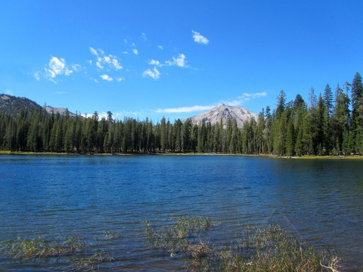 Summit Lake at Lassen Volcanic National Park in California