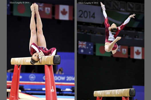 Hannah Whelan (England) competing on Beam at the Gymnastics competition of the 2014 Glasgow Commonwealth Games.
