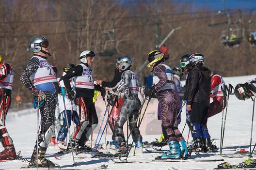 Senior Ski Racers competeing in Vermont.  2010.