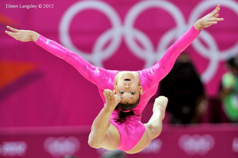 Kyla Ross (USA) competing on Balance Beam during the team competition of the Gymnastics event at the 2012 London Olympic Games.
