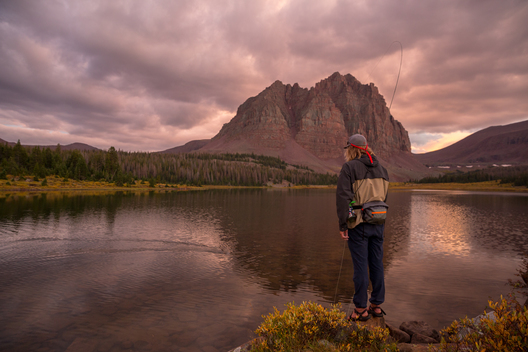Fly fishing shoot for CHUMS USA to Red Castle, High Uintas Wilderness, Utah.