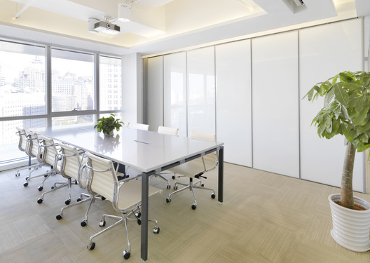 Divisible meeting room of MomentCam Office, a Beijing-based mobile app developer, designed by Singapore's office designer, AND lab, in Beijing.