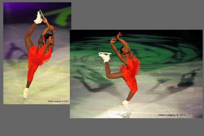Mae Berenice Meite (France) performing in the Exhibition Gala at the 2012 ISU Grand Prix Trophy Bompard at the Palais Omnisport Bercy, Paris France.