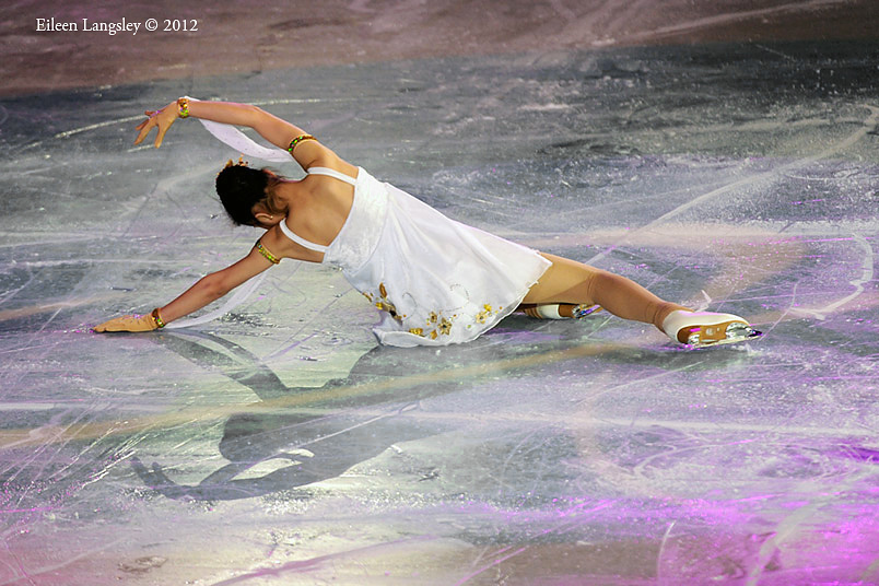 Maxine Yu (Great Britain) performs a routine during the exhibition at the 2012 European Figure Skating Championships at the Motorpoint Arena in Sheffield UK January 23rd to 29th.
