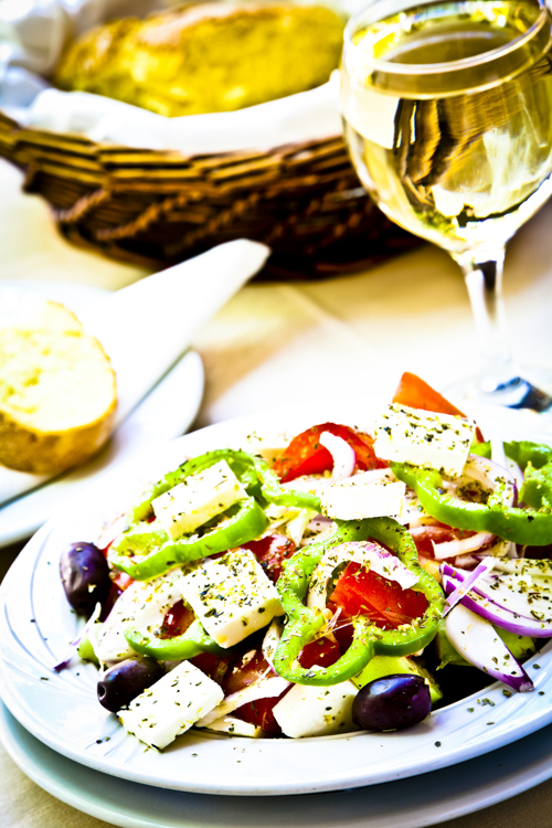 Greek Salad, Plaka District, Athens, Greece