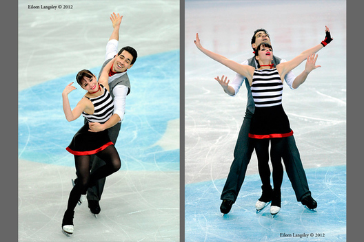 Anna Cappellini and Luca Lanotte (Italy) competing their long programme at the 2012 European Figure Skating Championships at the Motorpoint Arena in Sheffield UK January 23rd to 29th.
