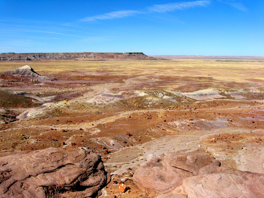 Painted Desert in Petrified Forest National Park in Arizona