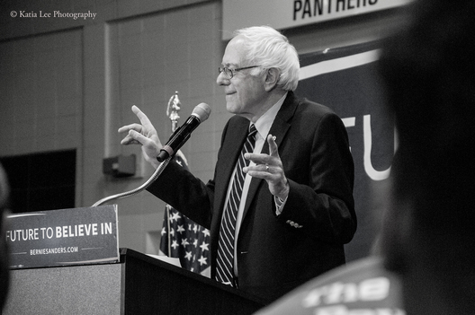 Bernie Sanders at Claflin University in Orangeburg SC on the HBCU (Historically Black Colleges and Universities) Tour February 2016
