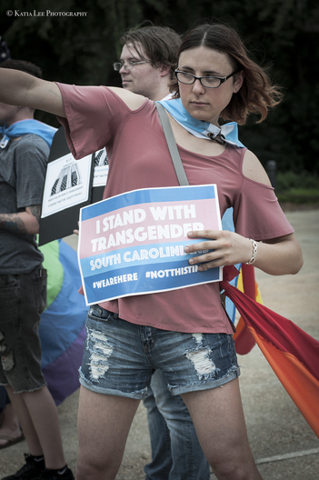 Rally to support the Transgender Community after Donald Trump announces ban of Transgender people in the military.  July  29, 2017