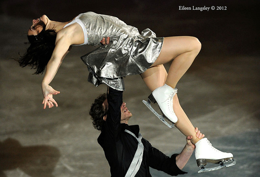 Nathalie Pechelat and Fabian Bourzat (France) perform a routine during the exhibition at the 2012 European Figure Skating Championships at the Motorpoint Arena in Sheffield UK January 23rd to 29th.