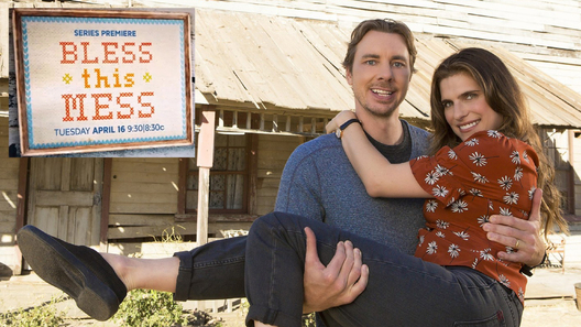 "BLESS THIS MESS - ABC's ""Bless This Mess"" stars Dax Shepard as Mike, and Lake Bell as Rio. (ABC/John Fleenor)"