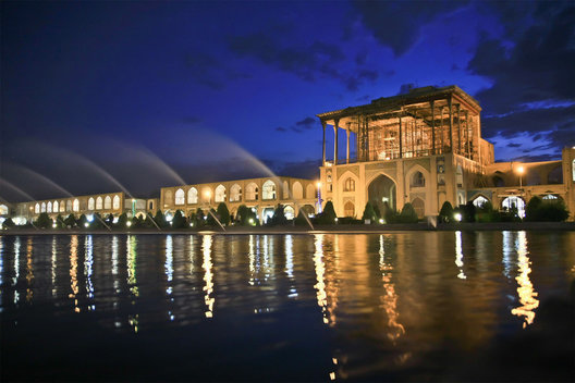 The 16th century Ali Qapu Palace overlooking the beautiful Imam Square in Esfahan.