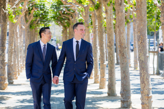 Gay elopement in San Francisco at San Francisco City Hall - LGBTQ wedding photog SF