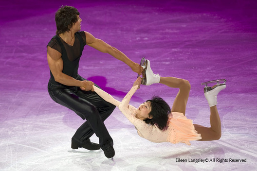 Yuko Kavaguti and Alexander Smirnov (Russia) perform an artistic routine at the exhibition for the Figure Skating competition at the 2010 Winter Olympic Games in Vancouver.