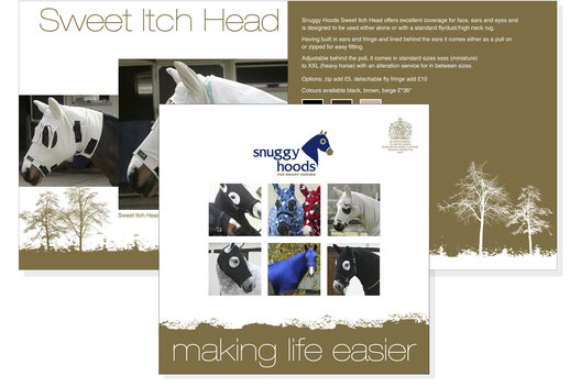 Graphic design to promote a wide range of equestrian products.