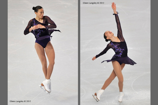 Christina Gao (USA) competing in the short programme at the 2012 ISU Grand Prix Trophy Eric Bompard at the Palais Omnisports Bercy