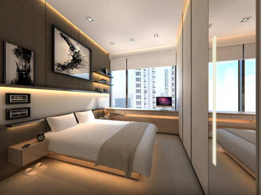 Son Bedroom design of a contemporary luxury residential condominium home interior in Ardmore III in Singapore designed by AND lab.