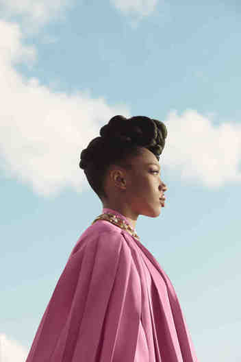 FOR ALEXA - Women;s Holiay - Naomi Ackie. Photo by Ramona Rosales. Shot on location at the Standard Hotel, London.