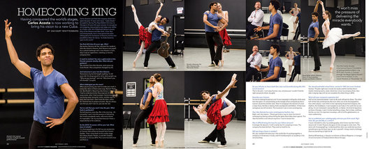 Photography for article and interview with Carlos Acosta