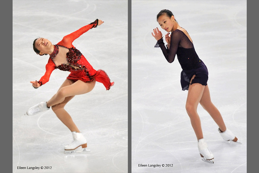 Christina Gao (USA) competing in the short and long programmes at the 2012 ISU Grand Prix Trophy Eric Bompard at the Palais Omnisports Bercy